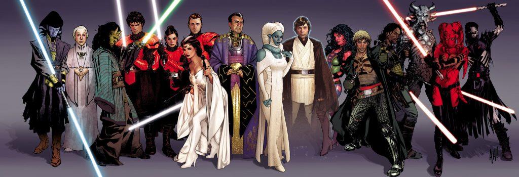 Personagens da HQ Legacy da Dark Horse Comics